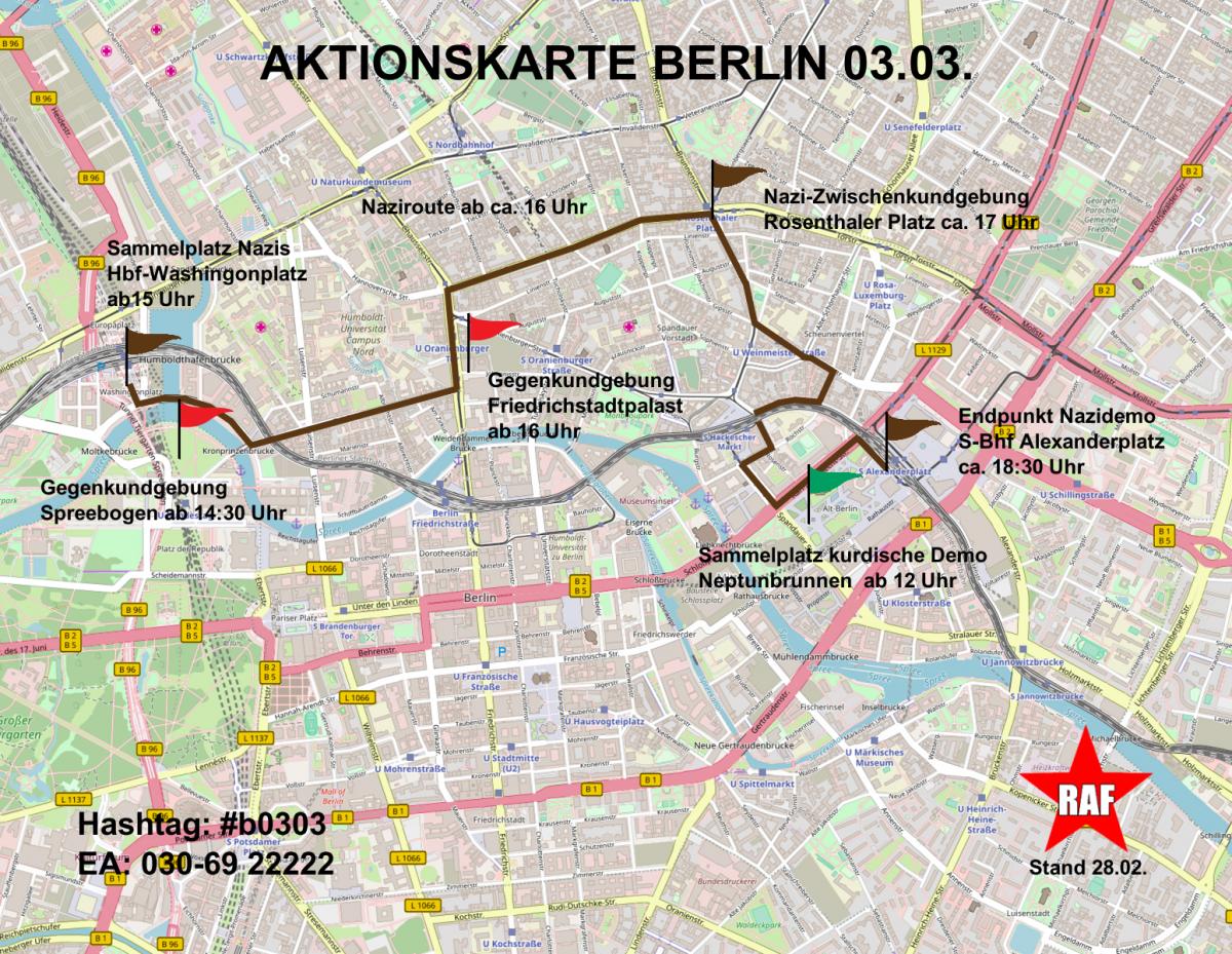 Aktuelle Infos zum Naziaufmarsch in Berlin am 3. März