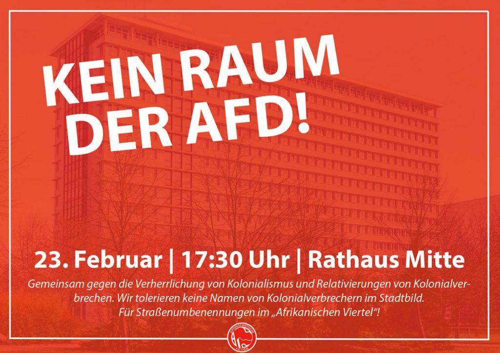 Verharmlosung deutscher Verbrechen in der Kolonialzeit verhindern – Bürgerdialog der AfD am 23.02. im Rathaus Mitte kritisch begleiten