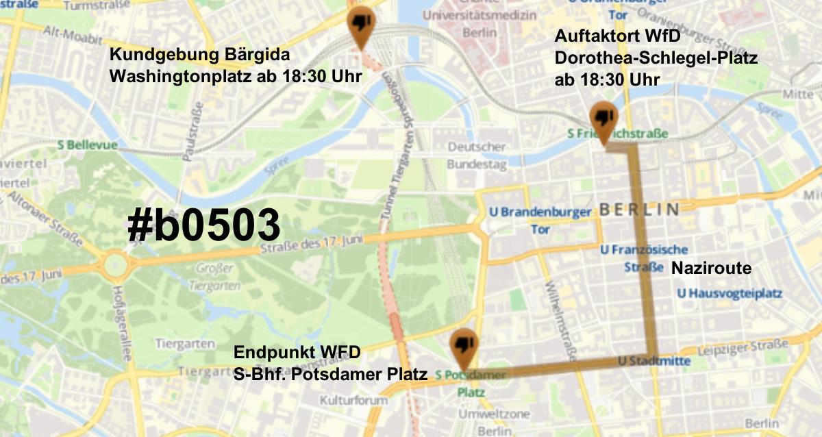 Am Montag, 05.03. bereits wieder in Berlin gegen die Nazis von Bärgida und Enrico Stubbe (WfD)