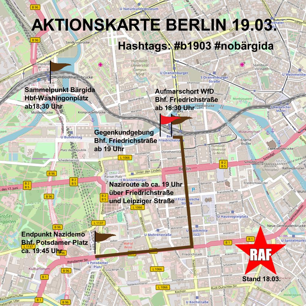 Morgen wieder gegen die Nazis von WfD und Bärgida