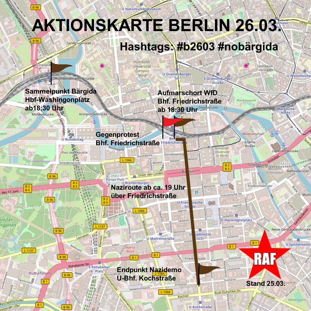 Am Montag wieder gegen die Nazis von WfD und Bärgida
