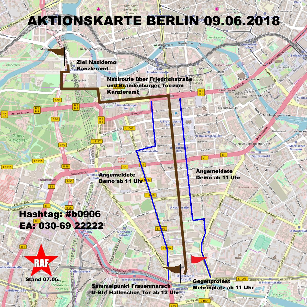 Aktuelle Infos zum rassistischen Frauenmarsch am 09.06. in Berlin
