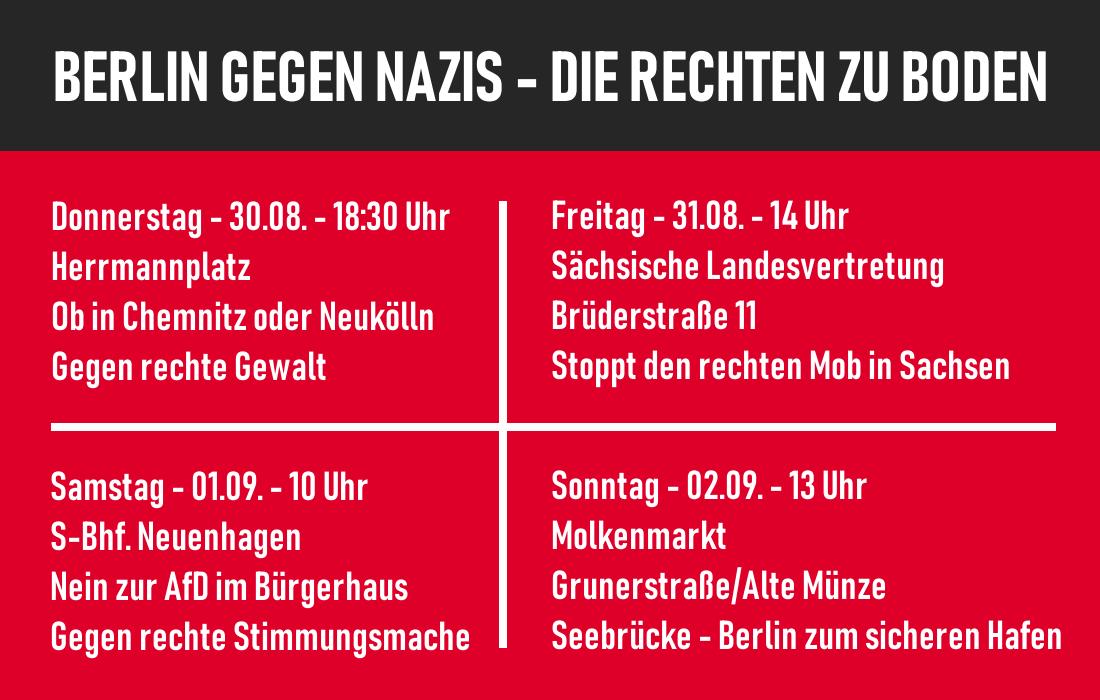 Vier Tage, Vier Demos – Viel zu tun am kommenden Wochenende in Berlin