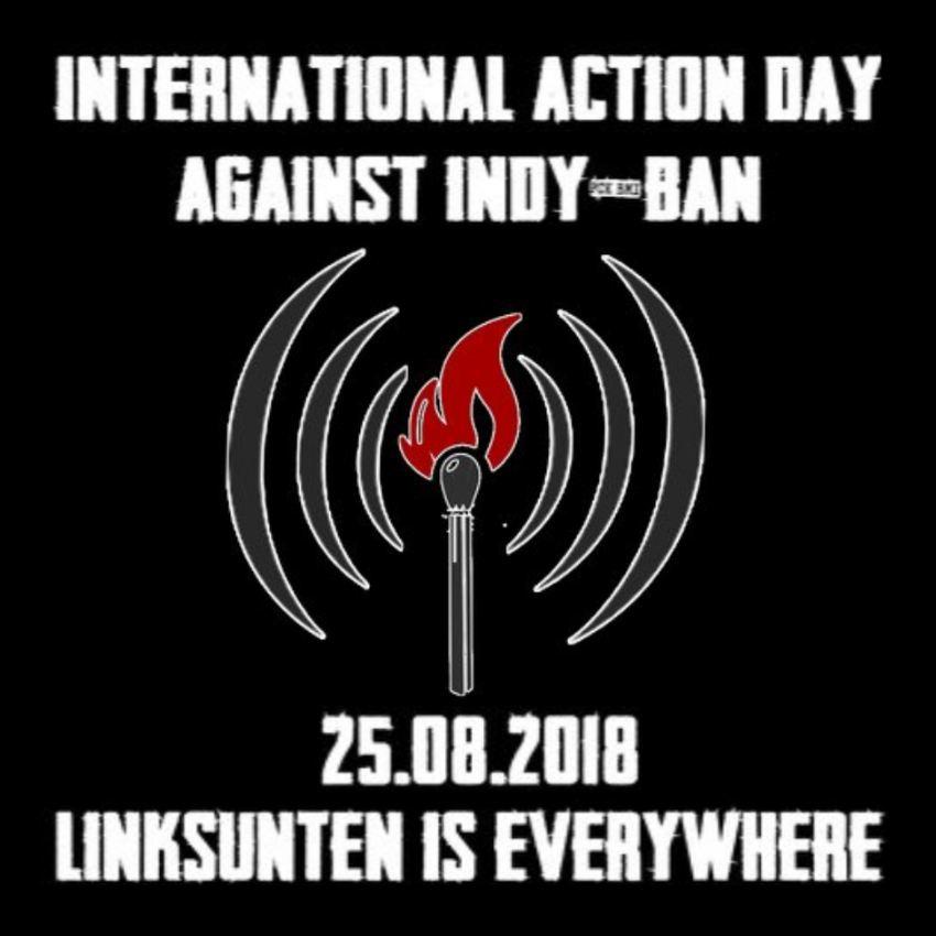 .Internationaler Aktionstag zum Verbot von Linksunten Indymedia am 25. August
