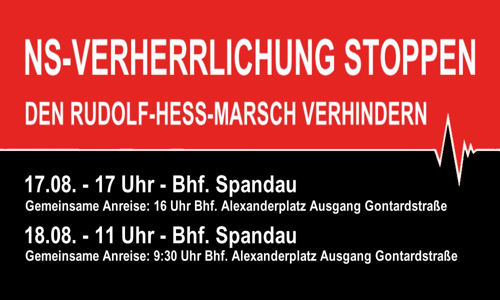 NS-Verherrlichung stoppen – Den Rudolf-Heß-Marsch am 18. August verhindern