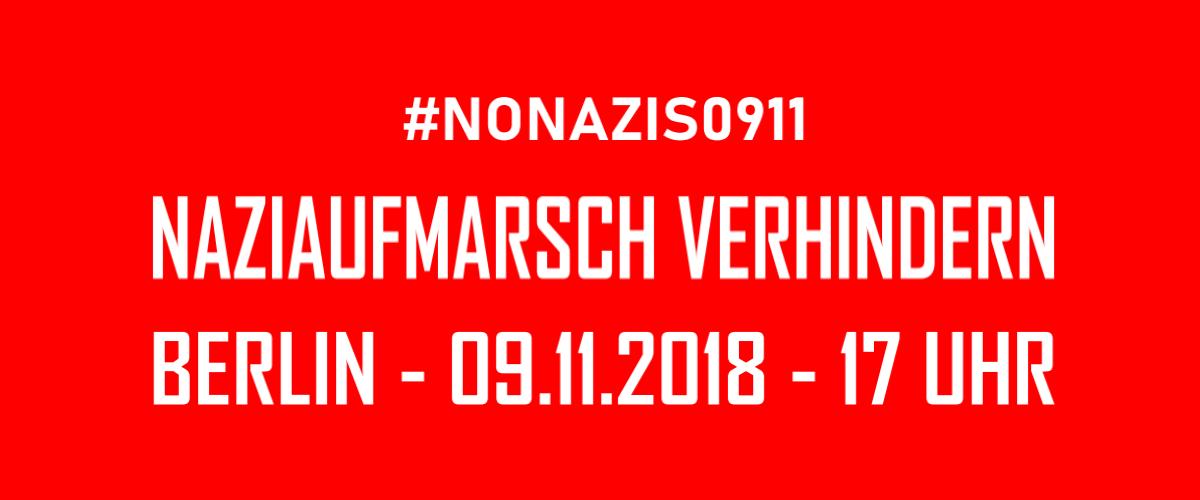 Arbeitsgruppe #nonazis0911 gegen den Naziaufmarsch am 9. November nimmt ihre Arbeit auf