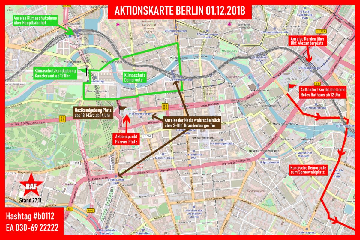 Einschätzung zur Nazikundgebung am 1. Dezember vor dem Brandenburger Tor