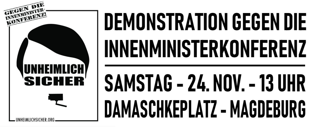 Bundesweite Demo gegen die Innenministerkonferenz am 24. November in Magdeburg