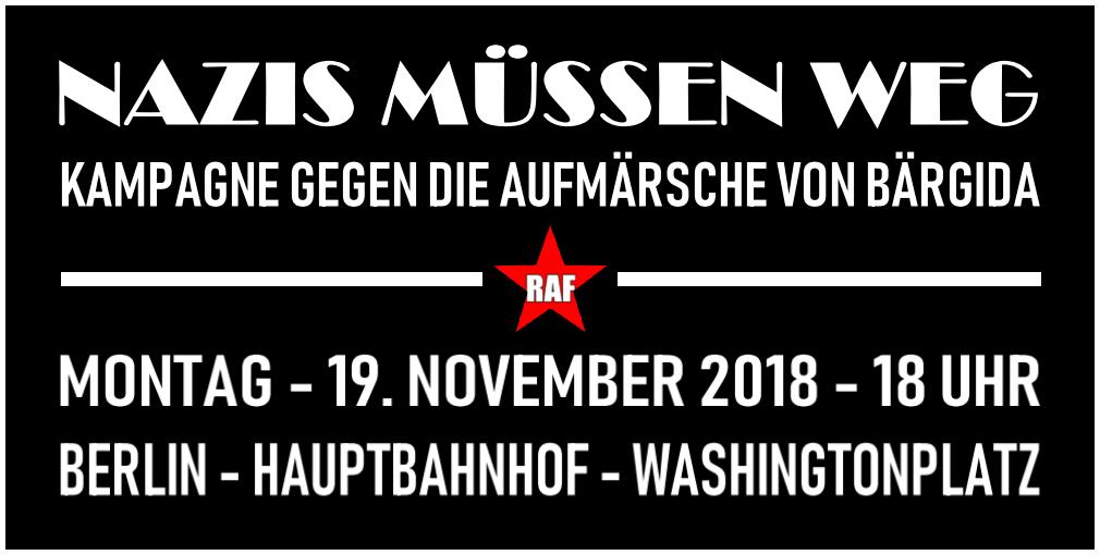 """Kampagne """"Nazis müssen weg"""" ab Montag, 19. November rund um den Hbf und Washingtonplatz"""