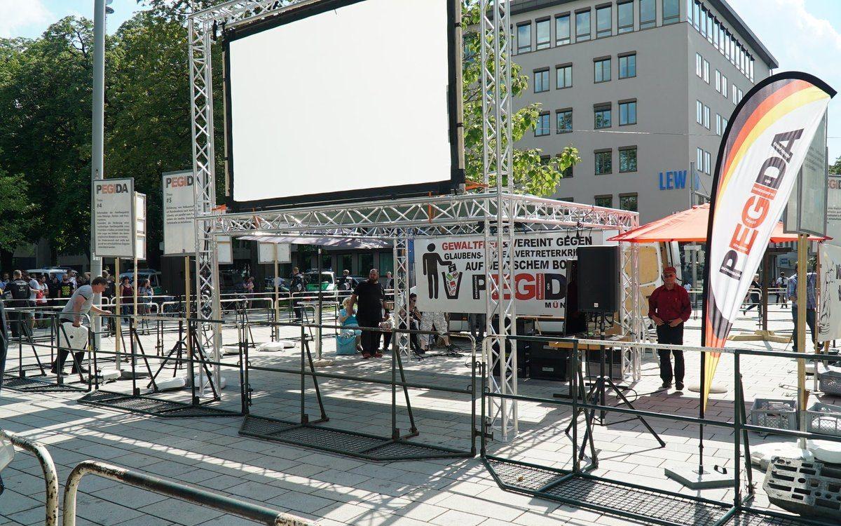 Pegida München vom 16.11. bis 18.11. auf dem Pariser Platz