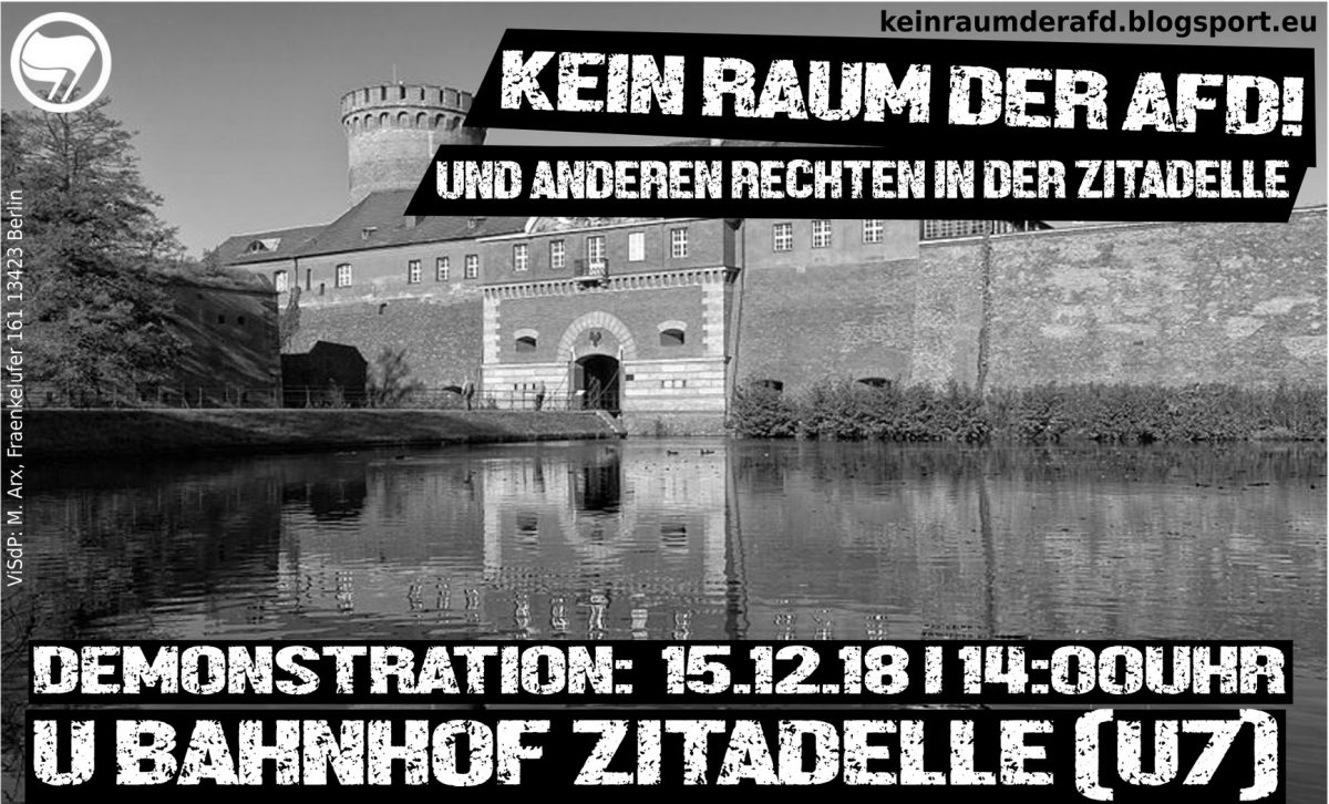 Demo gegen die AfD am 15. Dezember in Spandau
